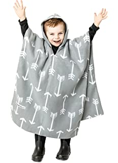 Kids Car Seat Poncho Gray Arrows Reversible Warm Blanket Safe Use OVER Belts Winter