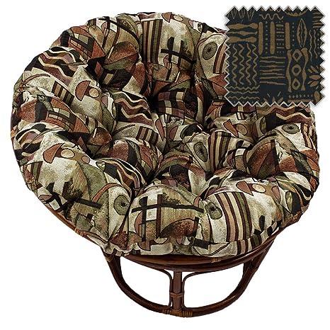 Amazon.com: 42-inch Bali Papasan de ratán silla con cojín ...