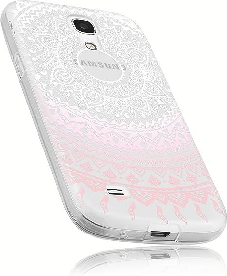 mumbi Funda compatible con Samsung Galaxy S4 mini, Mandala, rosa claro: Amazon.es: Electrónica