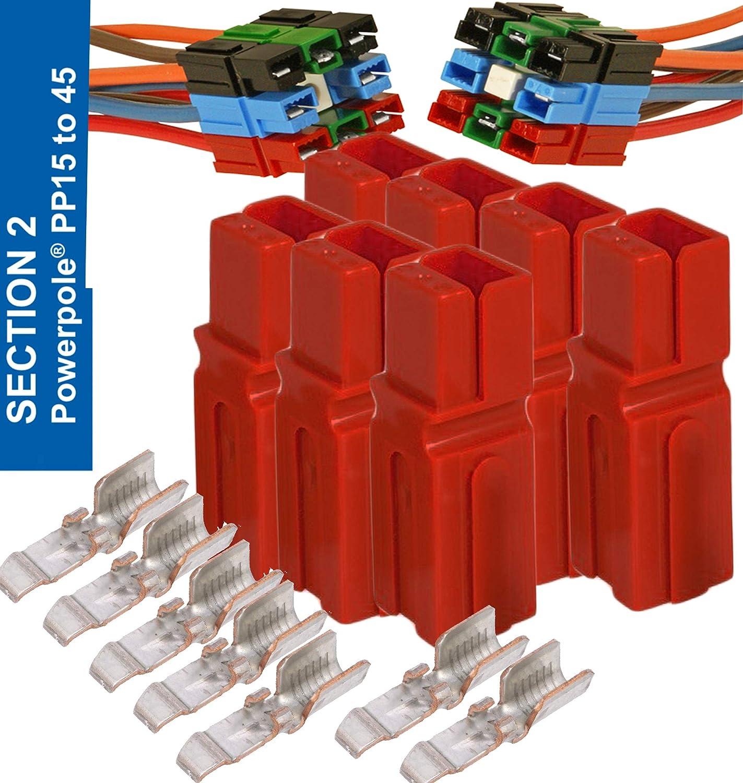 Anderson Powerpole Connectors 10 Pair 45 Amp
