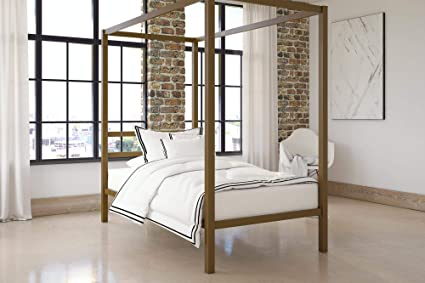 ff8e2624db37 Image Unavailable. Image not available for. Color: DHP Modern Canopy Bed ...