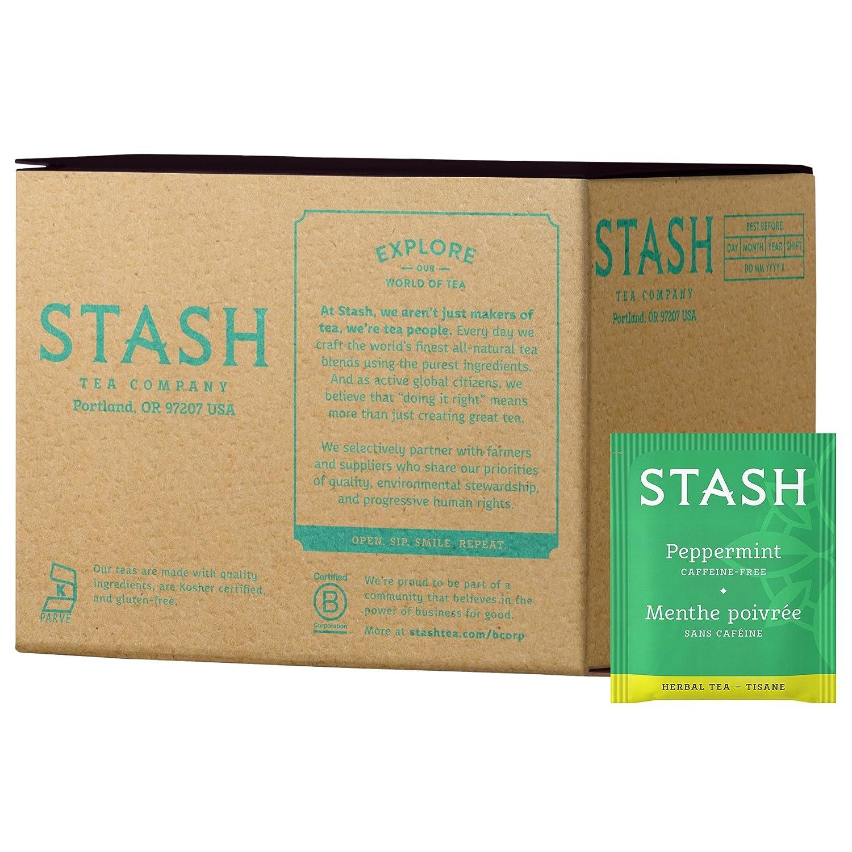 Stash Tea Peppermint Herbal Tea, Box of 100 Tea Bags
