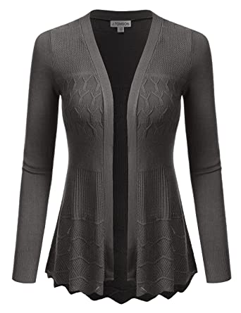 J.TOMSON Women's Stylish Long Sleeve Open Front Lace Cardigan ...