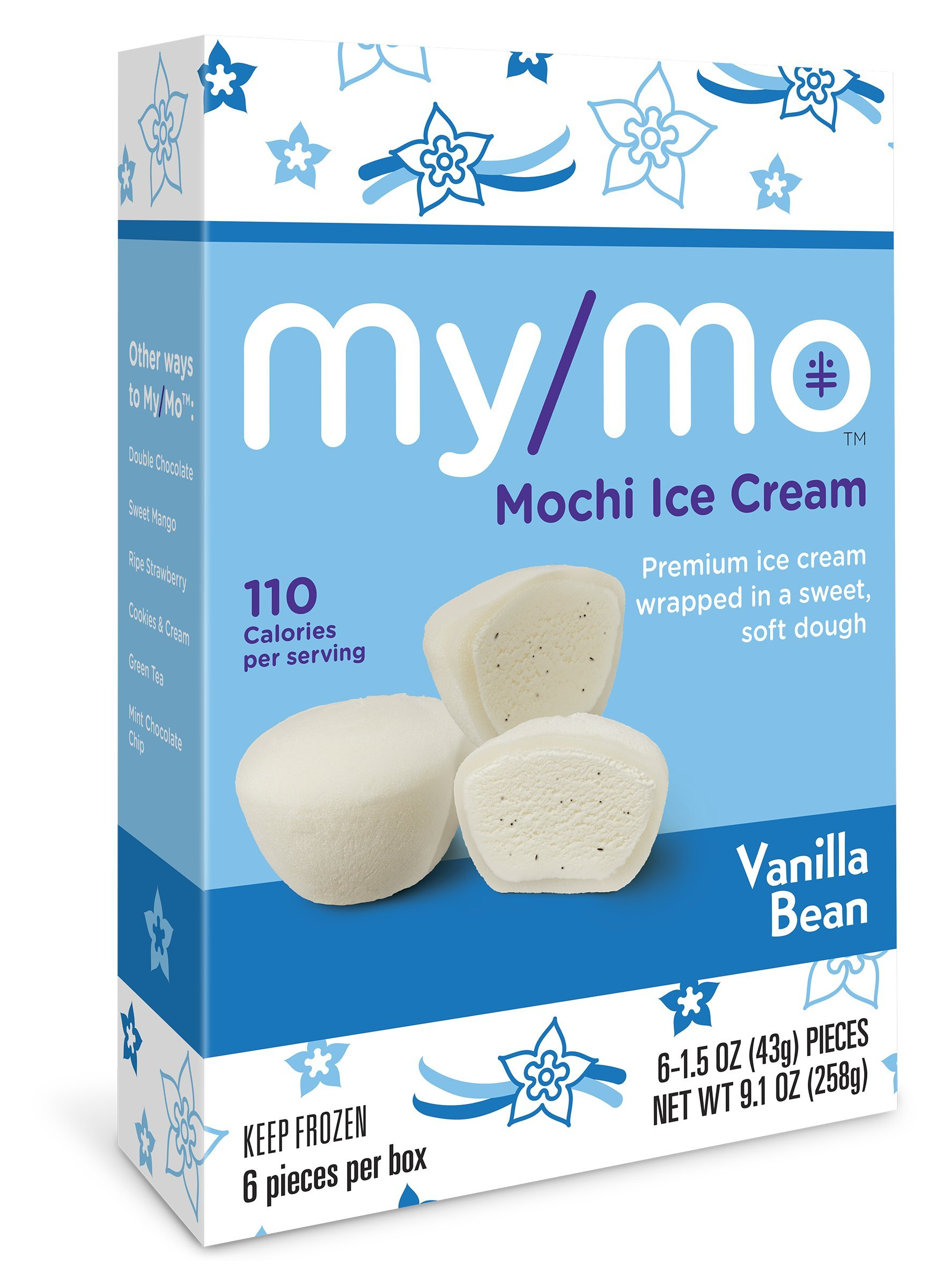My/Mo Ice cream Mochi Vanilla, 6 ct