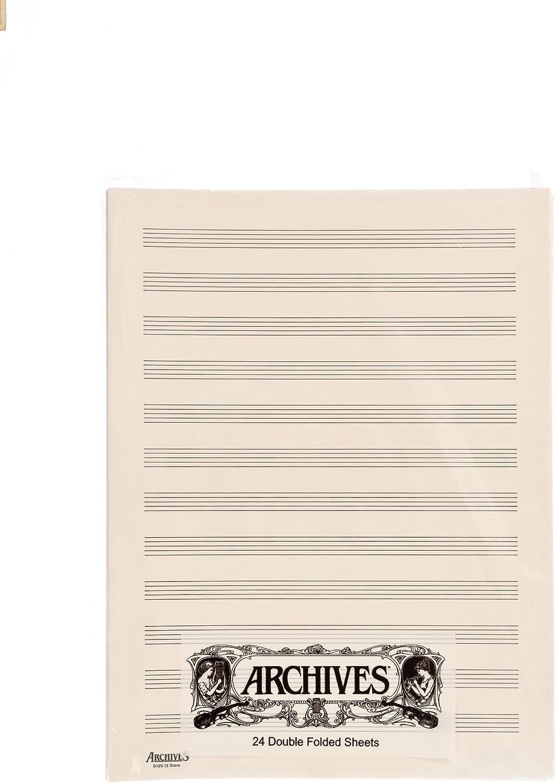 DAddario D12S - Papel pautado (24 páginas de 12 pentagramas ...