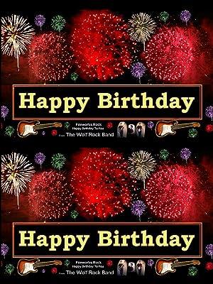 Amazon com: Happy Birthday Fireworks Greeting Card - Rock
