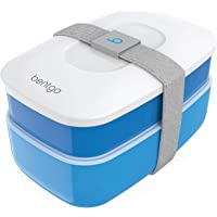 Bentgo Classic - All-in-One Stackable Bento Lunch Box Container - Modern Bento-Style Design Includes 2 Stackable…