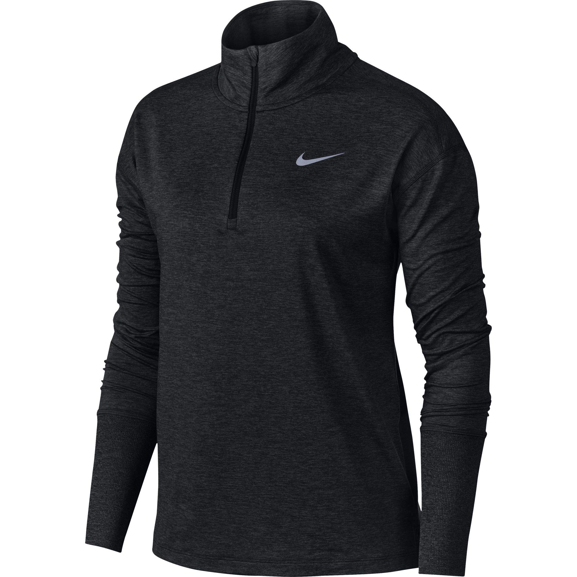 Nike Women's Element 1/2 Zip Running Top Black/Heather/Reflective Silver Size Small by Nike (Image #1)