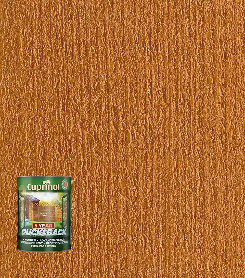 Cuprinol Ducksback 5 Year Waterproof for Sheds and Fences, 5 L - Forest Oak 5092434