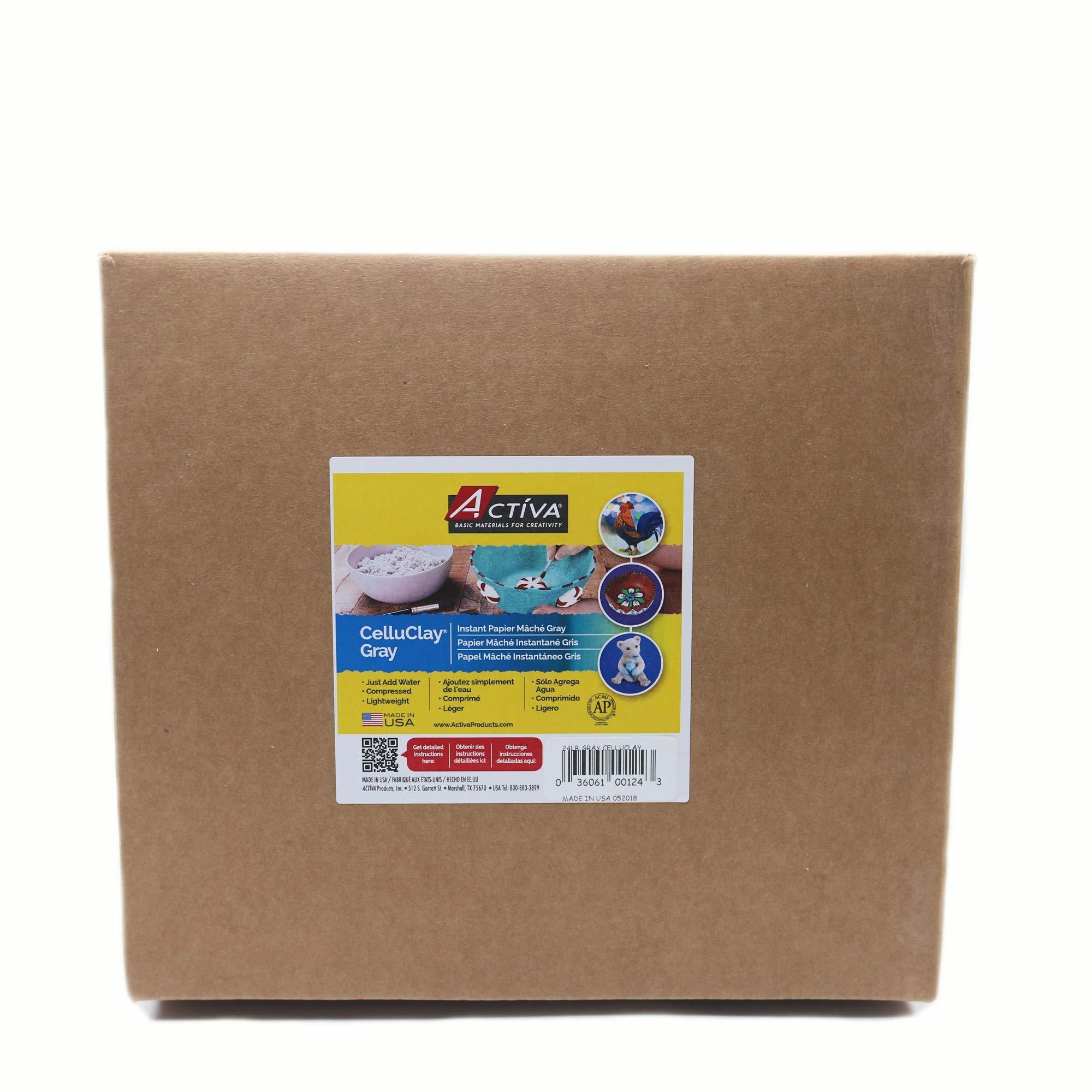 Activa Celluclay Instant Papier-Mache - 24 lbs. - Gray