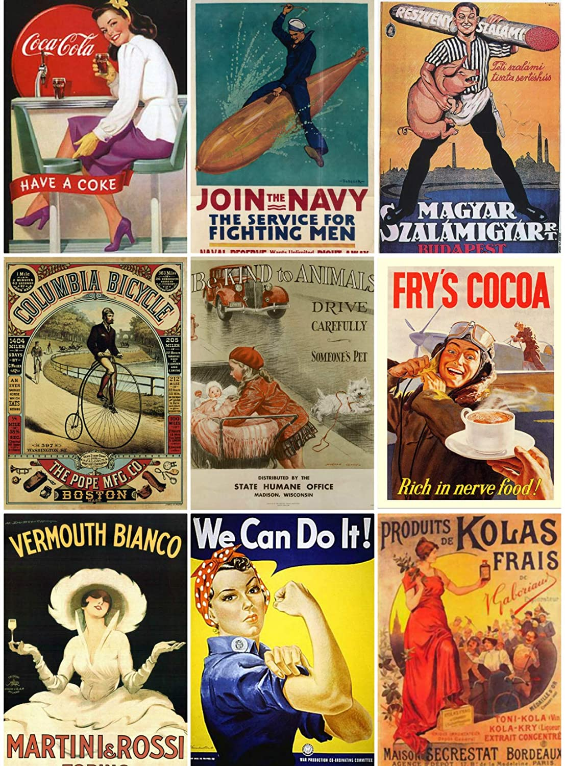 Labels Altered Art Scrapbooking Vintage Ad Posters Collage Sheet 102 for Scrapbooking ATC Cards Decoupage