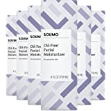 Amazon Brand - Solimo Oil-free Facial Moisturizer for Sensitive Skin, 4 Fluid Ounce (Pack of 4)