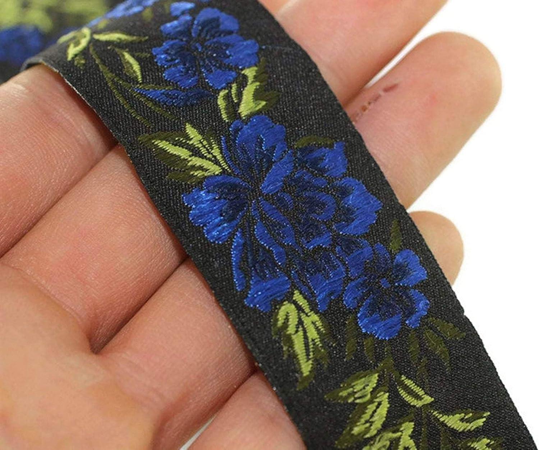 10 Meters 25 mm Blue//Black Floral Jacquard Trim 10.9 Yards 0.98 inches, Vintage Ribbon, Decorative Craft Ribbon, Floral Jacquard Ribbon Trim, Ribbon,