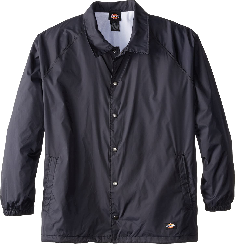 Dickies Men's Big & Tall Snap Front Nylon Jacket: Clothing