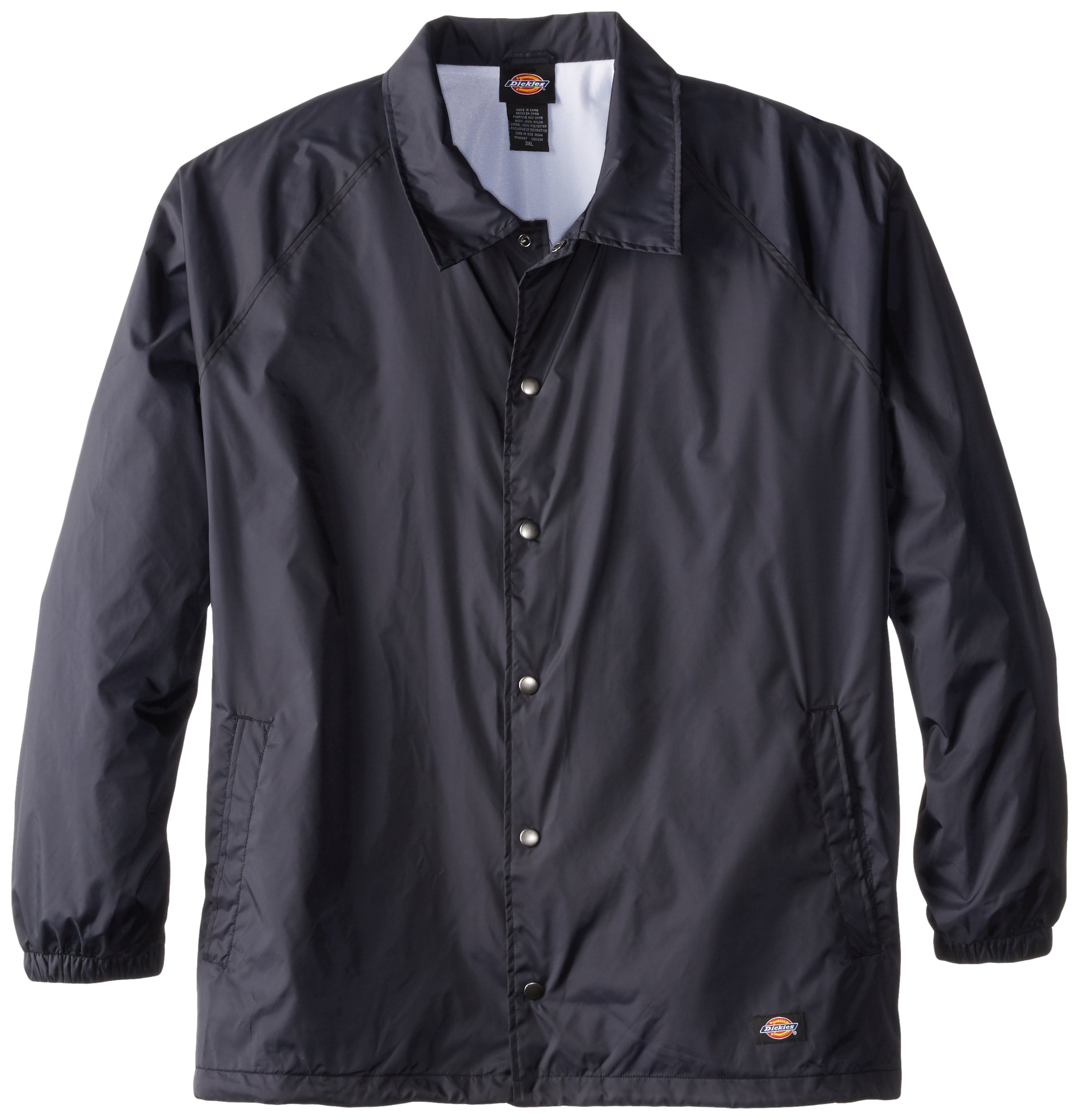 Dickies Men's Big Snap Front Nylon Jacket, Dark Navy, 4X