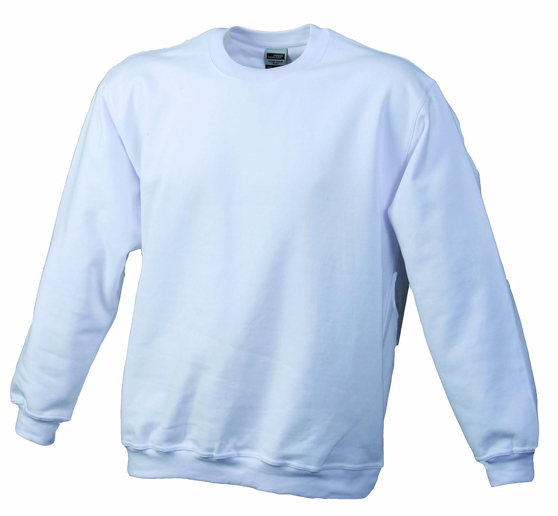 TALLA 4XL. James & Nicholson Sweatshirt Round Heavy Üg Sudadera para Hombre