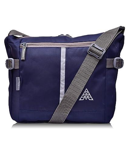 Adamson Unisex Side Buckle Polyester Blue Sling Bag