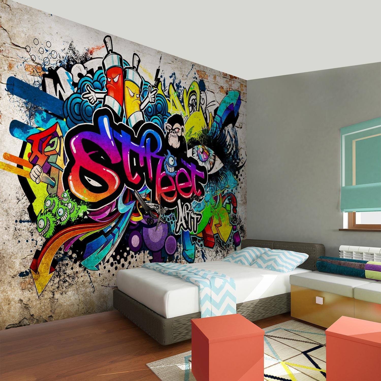 Tapisserie Photo Mur de pierre Graffiti 352 x 250 cm Laine papier peint Salon Chambre Bureau Couloir d/écoration Peinture murale d/écor mural moderne 100/% FABRIQU/É EN ALLEMAGNE 9218011b