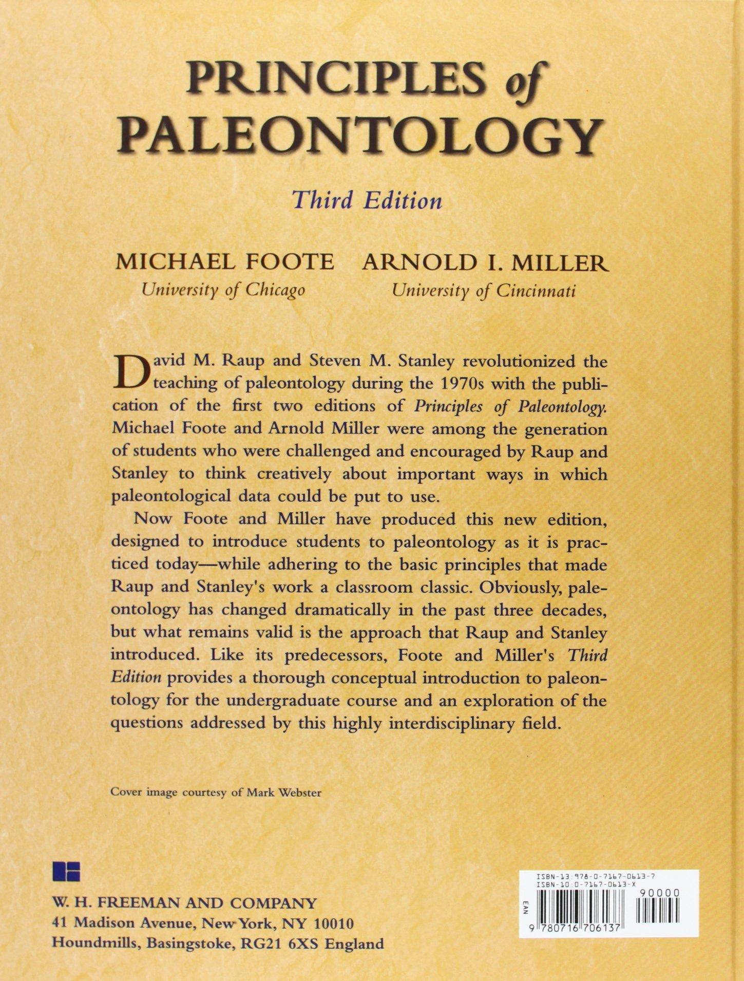 Principles of paleontology amazon co uk michael foote arnold i miller 9780716706137 books