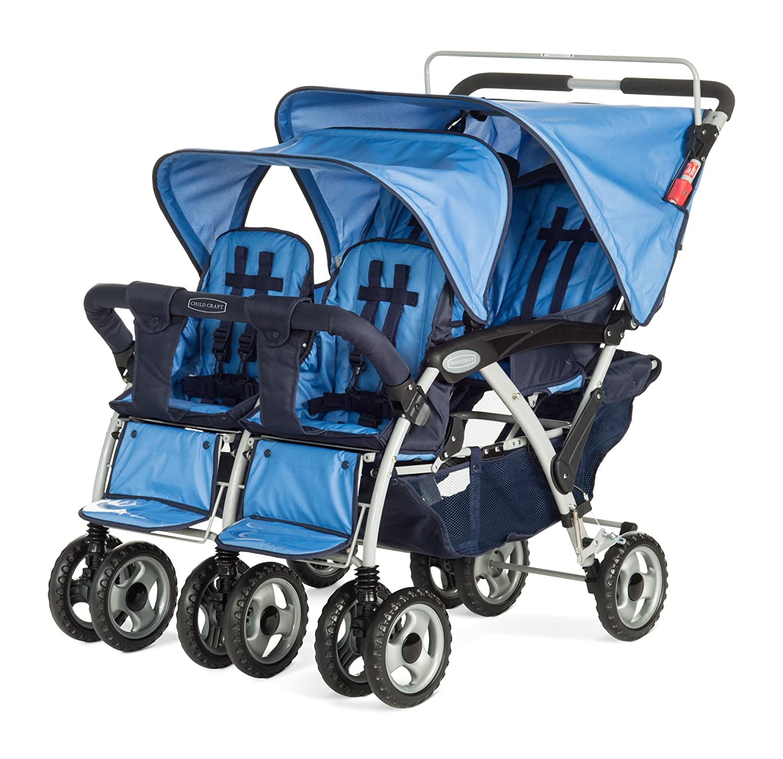 Amazon Child Craft Sport Multi Child Quad Stroller Regatta Blue Baby