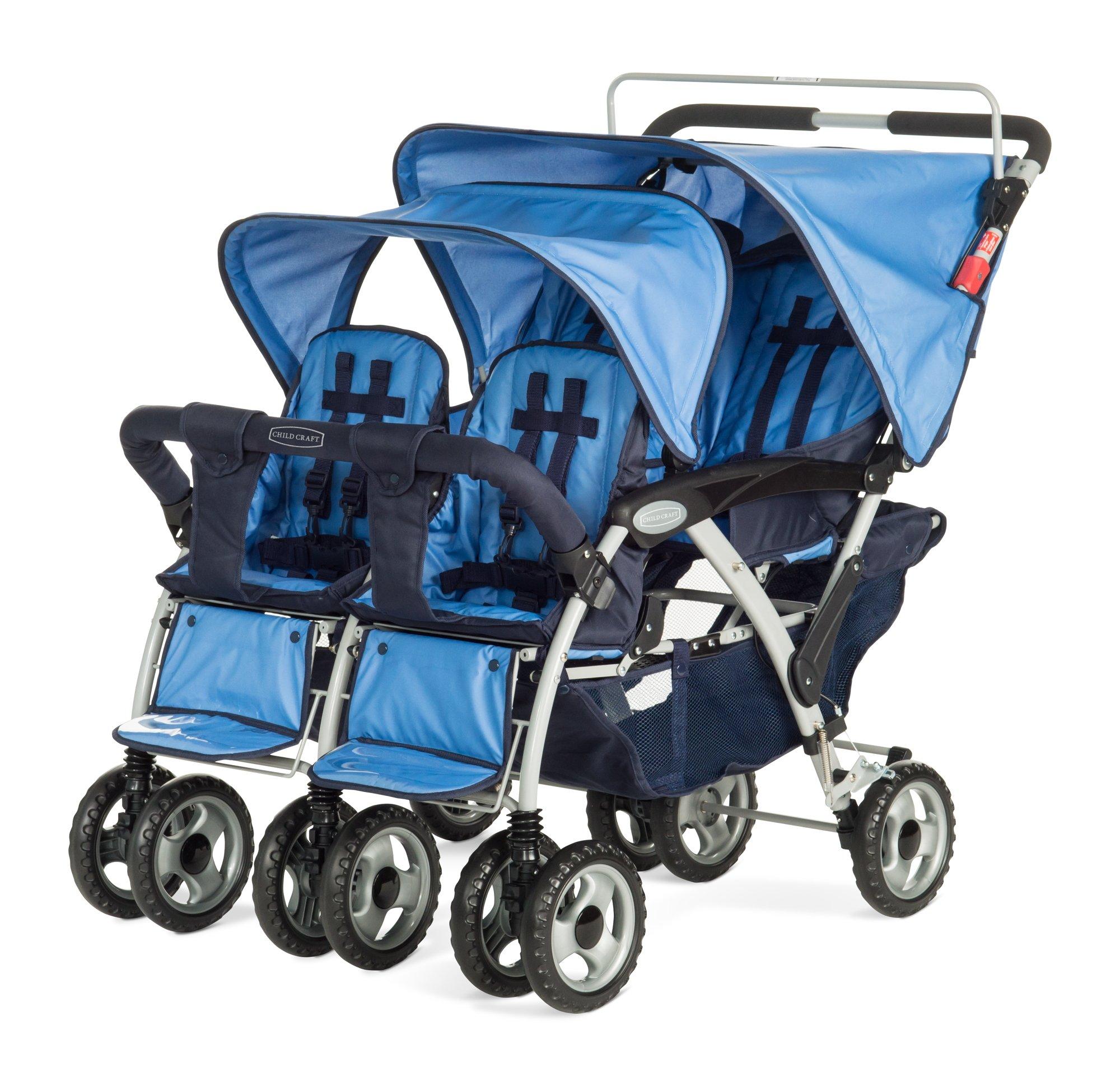 Child Craft Sport Multi-Child Quad Stroller, Regatta Blue by Child Craft (Image #1)