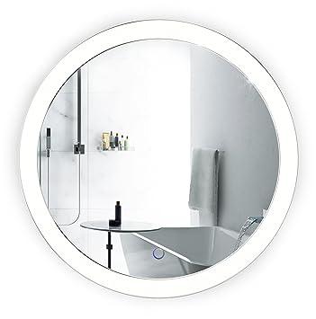 LED Bathroom Round Mirror 22 Inch Diameter