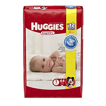 Amazon.com: Huggies Snug and Dry Diapers, Size 1, 44 Count ...