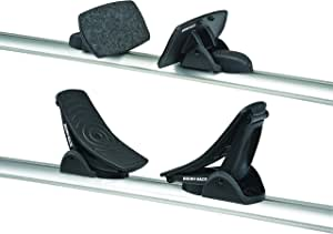 Rhino Rack Nautic 580 Series Kayak/Canoe Carrier, Includes 2 x Tie Down Straps and 2 x Rapid Straps w/Unique Buckle Protector