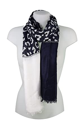 Miss Rouge écharpe Foulard femme motif léopard (Bleu Marine)  Amazon.fr   Vêtements et accessoires f4c2c778923