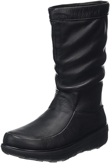 Loaff Knee - Botas para Mujer, Color Negro - Negro, Talla 39 EU FitFlop