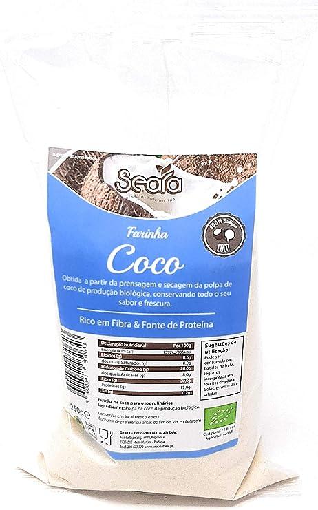 Harina de Coco - 250g - Farinha de Coco - Biologico: Amazon ...