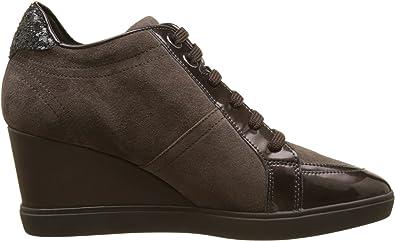 Dólar Hacia Escarpado  Amazon.com | Geox Women's D Eleni C Hi-Top Sneakers, Beige (Chestnut), 7.5  UK | Shoes