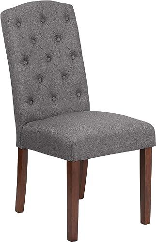 Flash Furniture HERCULES Grove Park Series Grey Fabric Tufted Parsons Chair