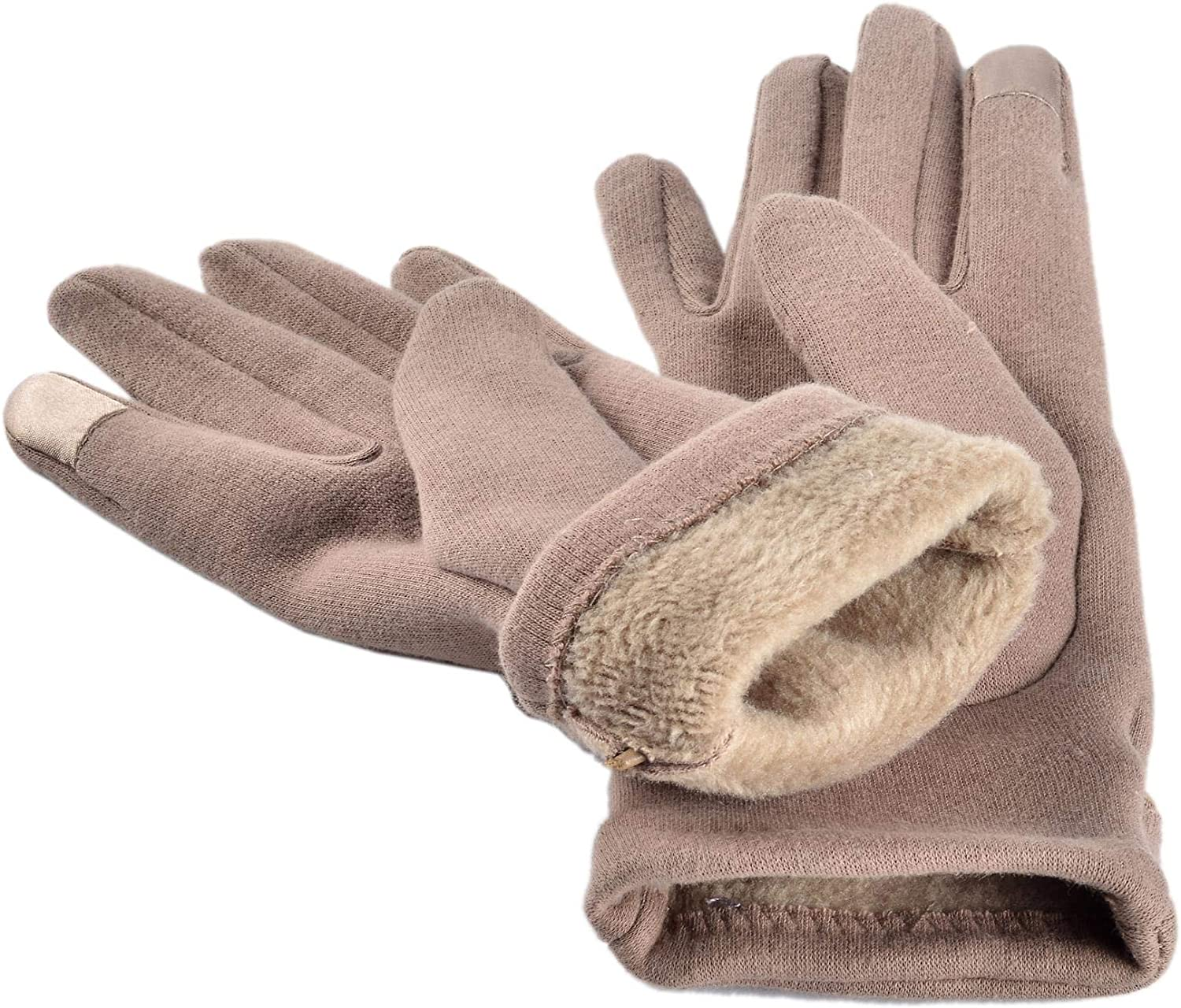 Woogwin Women Winter Warm Gloves Touch Screen Phone Windproof Lined Thick Gloves