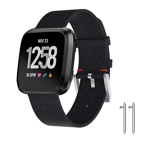 TOPsic Fitbit Versa - Correa de tela vaquera para Fitbit ...