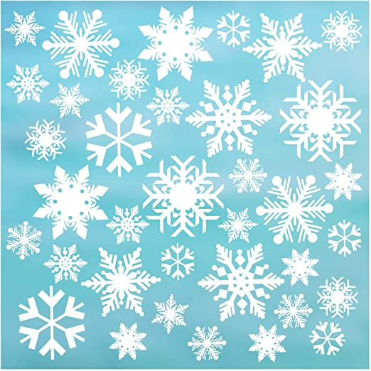 1 Made In U.S.A. One Christmas Static Window Clings X 17 In 24 In