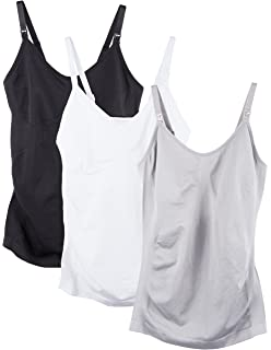 4145d545296a3 iLoveSIA 2Pack Seamless Nursing Cami Tank Top with Build-in ...