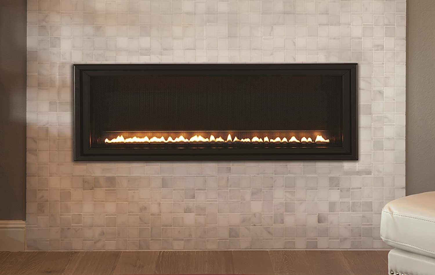 Design Linear Fireplace amazon com american hearth boulevard 48 linear vent free fireplace home kitchen
