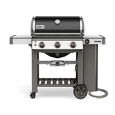 Weber-Stephen Products 66010001 Genesis II E-310 Natural Gas Grill, Black, Three-Burner