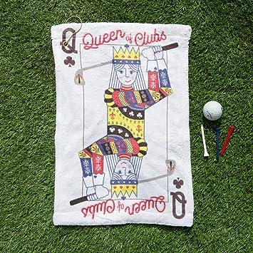 Notjustaprint Queen of Clubs - Juego de Cartas de Golf, Toalla de Golf Personalizada, edición Limitada motivadora, Regalo para Ella: Amazon.es: Deportes y ...