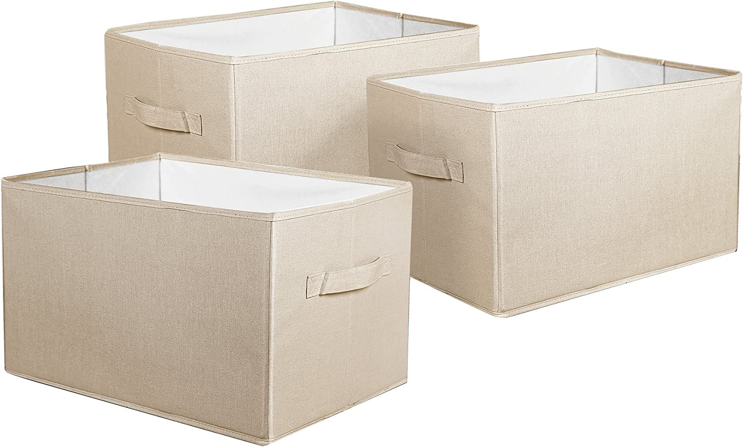 Lush Decor Fabric Covered 3 Ranking TOP12 Piece Storage Box Set Collapsible 1 Max 55% OFF