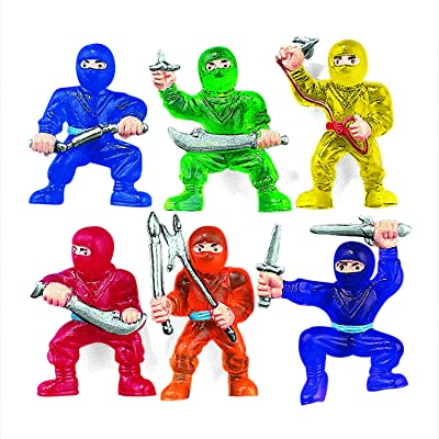 Fun Express Vinyl Ninja Warrior Toys (48 Pieces) Party Favors, Classroom Counters, Carnival Prizes: Toys & Games [5Bkhe0301473]