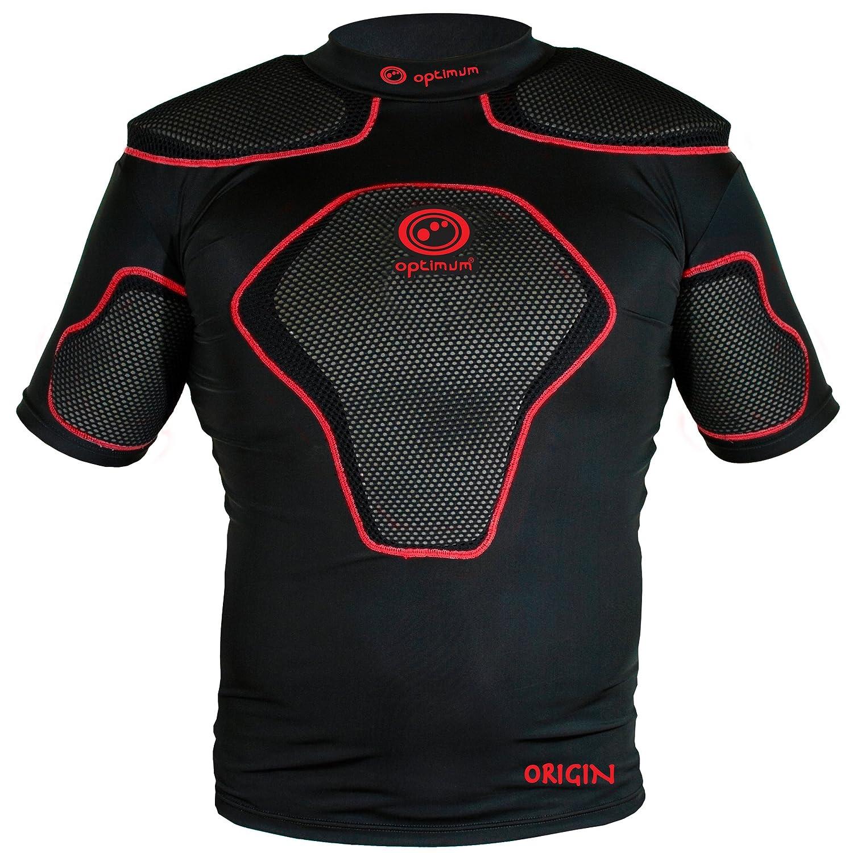 Almohadillas protectoras hombros OPTIMUM Origin rugby - negros/rojo, talla L