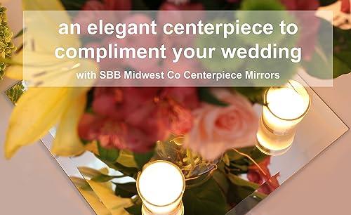 12 X 12 Elegant Wedding Centerpiece Mirror Beveled 6 Pcs