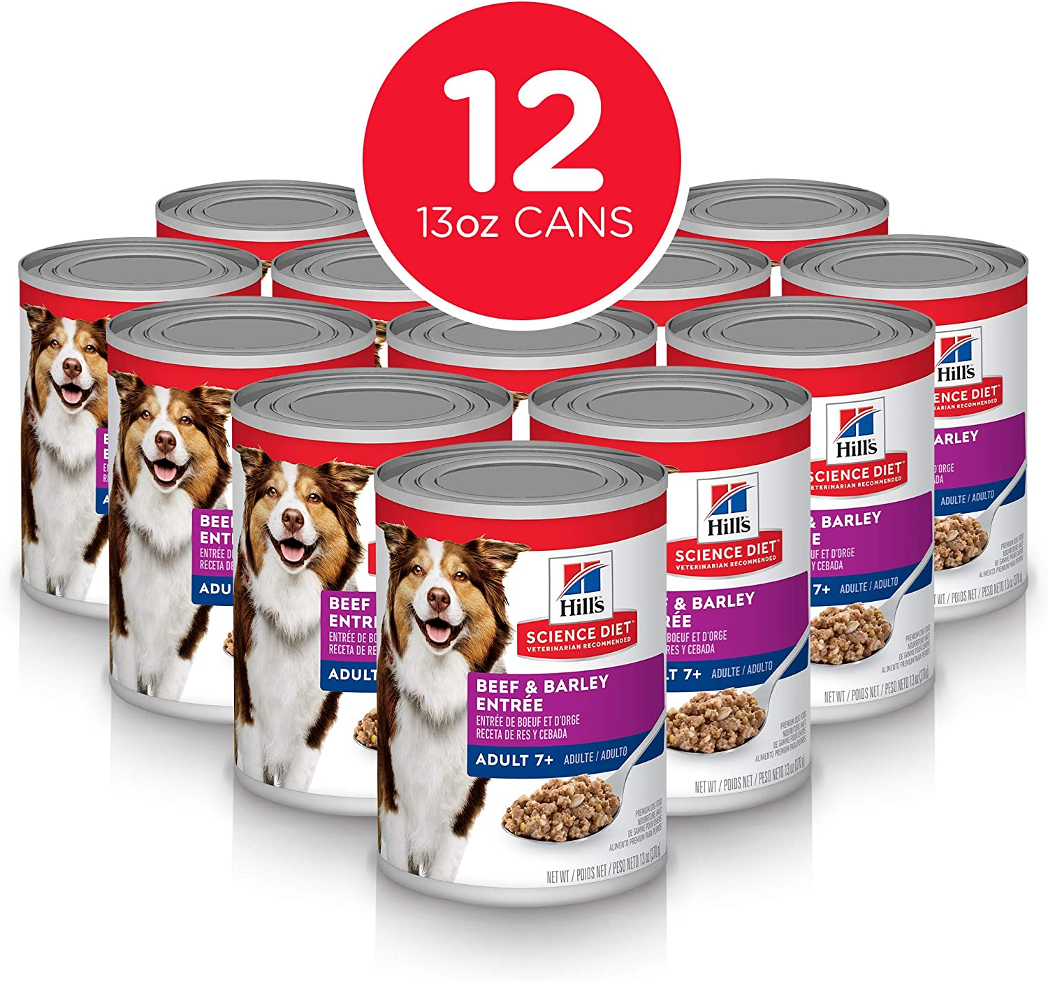 Hill's Science Diet Canned Wet Dog Food, 7+ For Senior Dogs