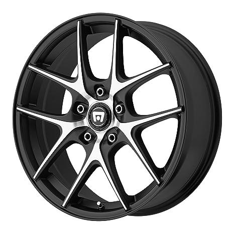 amazon motegi racing mr128 satin black wheel with machined Subaru GL amazon motegi racing mr128 satin black wheel with machined flanged 17x7 5 5x120mm 45mm offset automotive