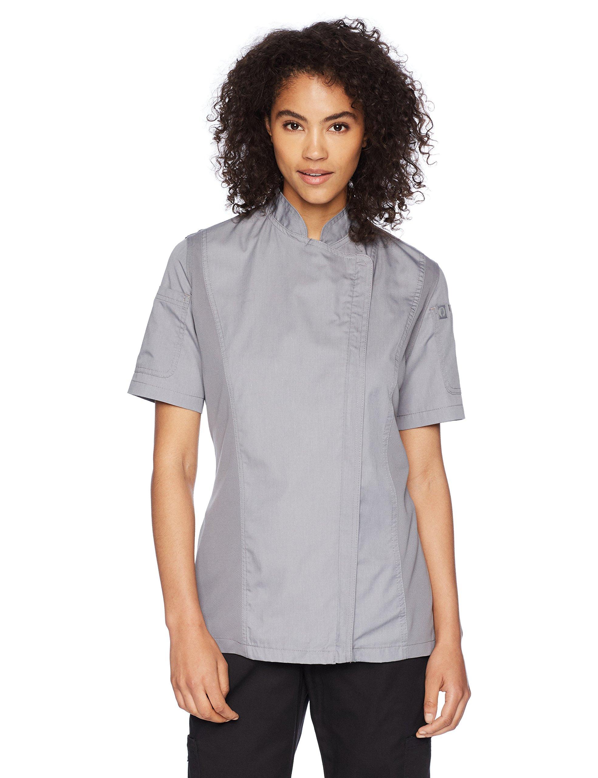 Chef Works Women's Springfield Chef Coat, Gray, Medium