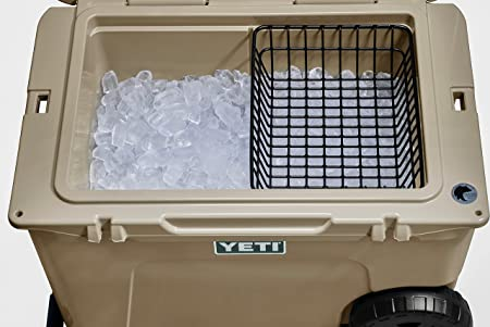 Cooler Basket for Yeti Tundra Haul - Wire Cooler Accessory for the Yeti Haul Wheeled Ice Chest - Camping Fishing, Hunting, Boating Gear - Ultra Strong, Powder Coated Dry Goods Storage Insert