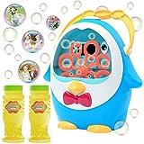JOYIN Bubble Machine with 2 Bubble Solution (180ml), Penguin Bubble Blower Bubble Toys 800+ Bubbles Per Minute, Bubble Maker
