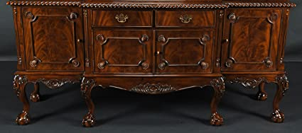 Amazon Com Large Mahogany Chippendale Sideboard Buffets Sideboards